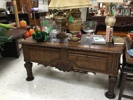 Beautiful Large desk - this is the back side