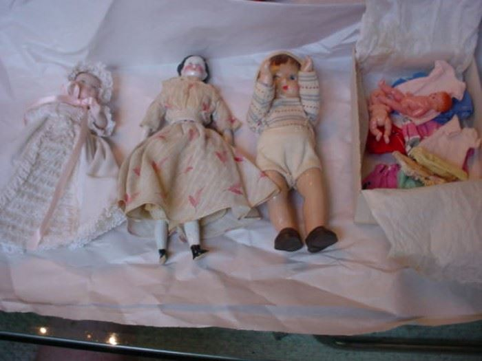 Vogue doll, old German porcelain, and others