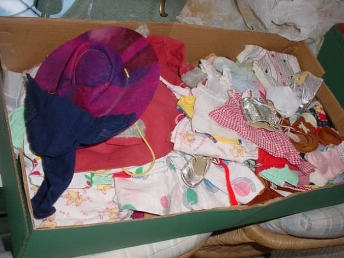 another box of old doll clothes