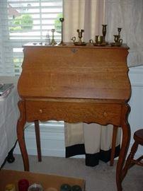 Beautiful antique oak secretary desk
