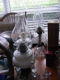 some of the old oil lamps