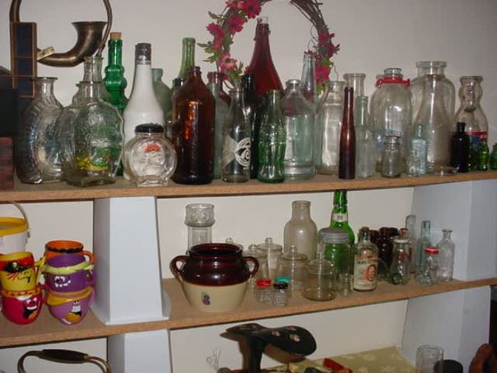 Great collection of old bottles, milk, medicine and other, many quite rare
