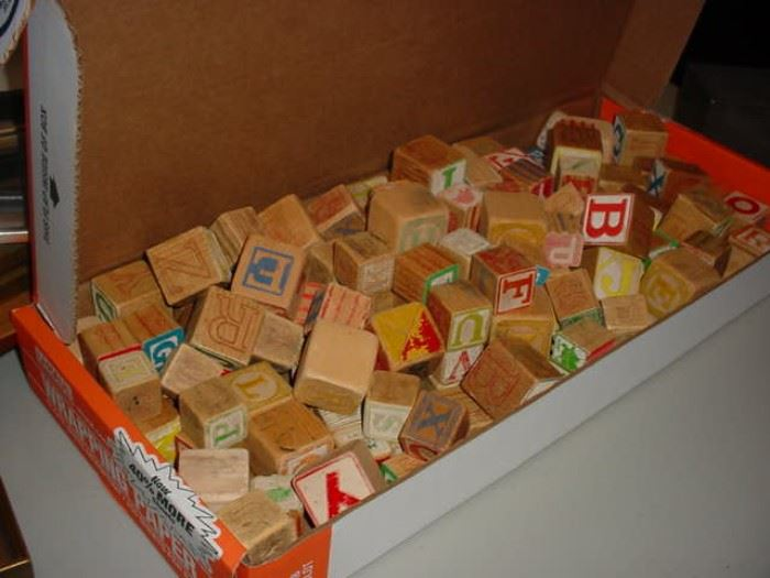 Old early wooden blocks