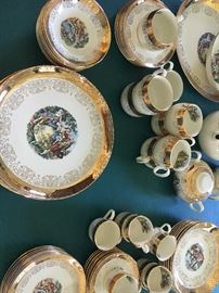 """""""Colonial"""" china dinner set"""