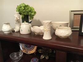 A large selection of Belleek Irish bone china
