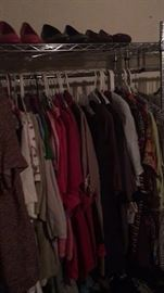 Lots of ladies and mens clothing