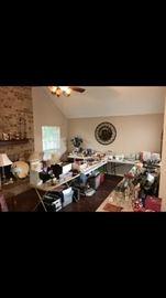 Lamps, office supplies, throw pillows, crafts,  knick knacks, etc.