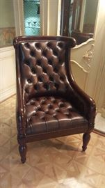 $125  tufted leather chair
