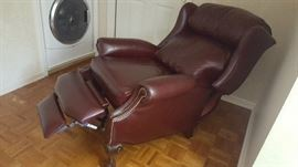 $140 brown leather recliner
