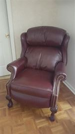 $140 brown leather recliner chair