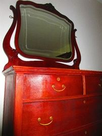 Chest of Drawers and Mirror Ca 1900