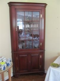 Henkel Harris corner china cabinet