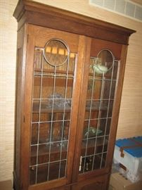 China hutch with lead glass