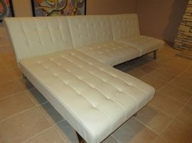 Contemporary modular leatherette  sofa by Dorel Home