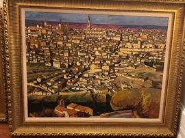 "Felix Nunez Molinero, Spain ""Toledo"" Oil on Canvas"