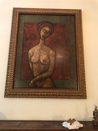 Acrylic signed Painting Carlos Garcia 30' x 40'