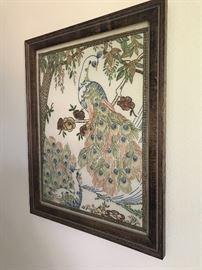 Vintage handiwork beautifully framed !