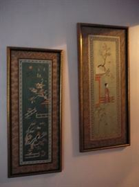 2 framed Japanese Prints circa 1950-60's