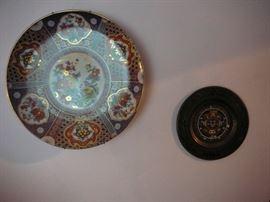 Japanese enamel plates