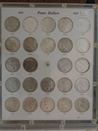 Coins - Peace Dollar Collection