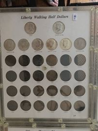 Coins - Liberty Walking Half Dollar collection