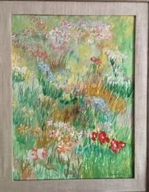 Oil on board signed Lillian Grady