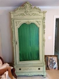 Vintage Armoire was owned by a Man who was killed in the 6 day war of 1967.