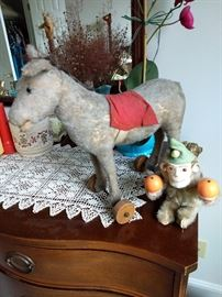 Vintage Steiff Donkey with tag in ear