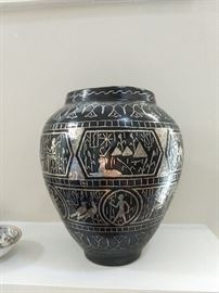 Silver Anodized Vase from Cairo