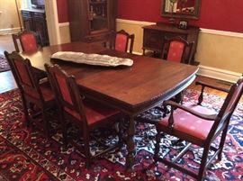 Antique Mahogany, Dining room set