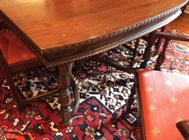 Detail of Dining table
