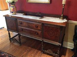 Antique Carved Mahogany, Buffet