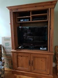 TV.  Cabinet available for immediate purchase.  Contact AAA ORGANIZING LLC at 919.422.8589