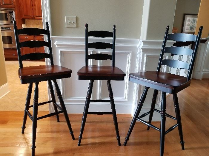 Bar stools. Available for immediate purchase.  Contact AAA ORGANIZING LLC.