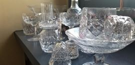 Waterford assorted glass