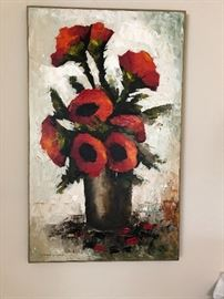 We have original, as well as prints framed and framed tasteful art throughout the home