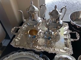 Silverplate Coffee Tea Set would grace  anyone's household with elegance. Again the style of English etiquette.