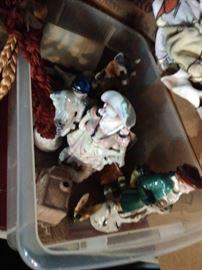 Ceramic and porcelain figurines