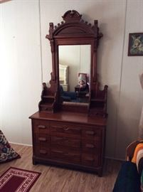 Very nice Antique dresser& mirror
