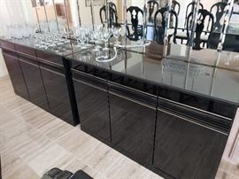 Modern Black Lacquer Buffet (2)