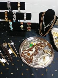 COSTUME JEWELRY, LETTER OPENERS
