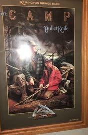 1990'S REMINGTON KNIFE POSTERS IN OAK FRAMES