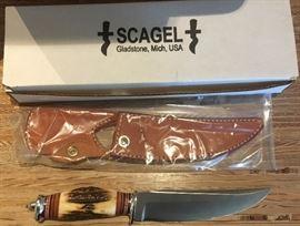 Scagels Medium Field Knife in original box.