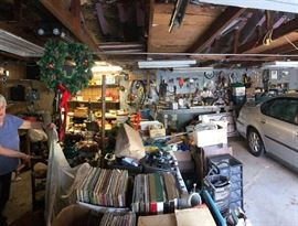 filled garage