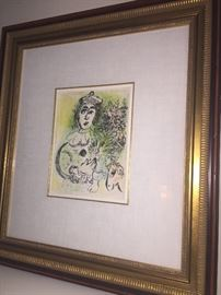 Marc Chagall - framed piece - certification /appraisal available