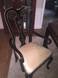 Dining chairs - 2 arm and 4 side