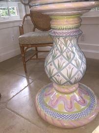 Mackenzie Child's pedestal table - second one