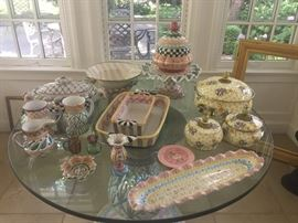 Makenzie Childs houseware - extensive collection