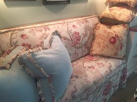 Bench seat - slipcovered - 3 different sets of slipcovers available (2 shown here)