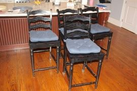 Set of 4 Bar Height Chairs
